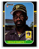1987 Donruss #238 Cecilio Guante Pirates MLB Mint Baseball