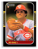 1987 Donruss #246 Bo Diaz Reds MLB Mint Baseball