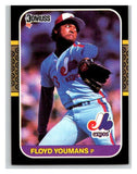1987 Donruss #257 Floyd Youmans Expos MLB Mint Baseball