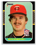 1987 Donruss #272 Keith Atherton Twins MLB Mint Baseball