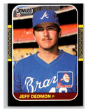 1987 Donruss #314 Jeff Dedmon Braves MLB Mint Baseball