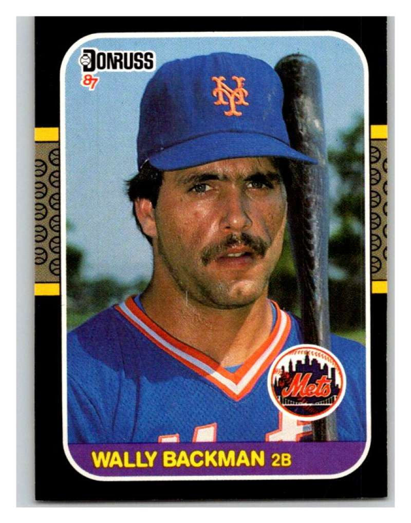 1987 Donruss #316 Wally Backman Mets MLB Mint Baseball
