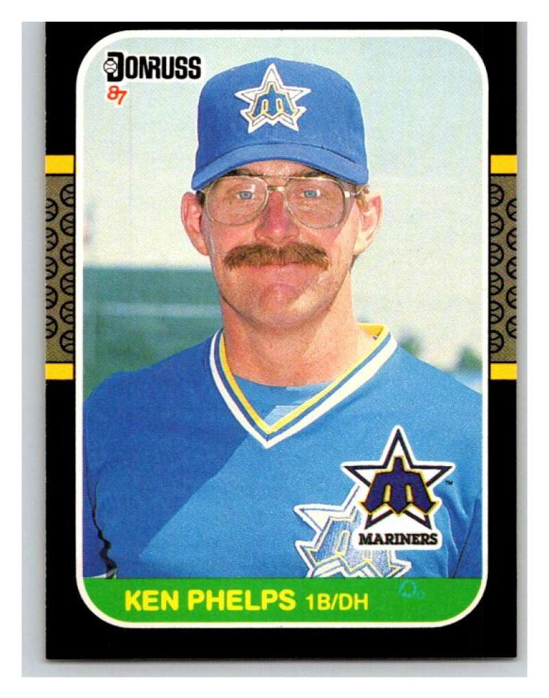 1987 Donruss #317 Ken Phelps Mariners MLB Mint Baseball