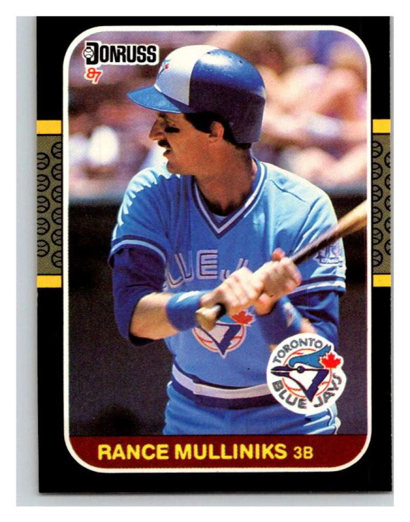 1987 Donruss #319 Rance Mulliniks Blue Jays MLB Mint Baseball