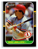 1987 Donruss #331 Mike LaValliere RC Rookie Cardinals MLB Mint Baseball