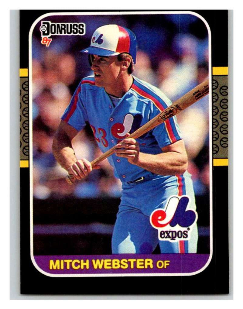 1987 Donruss #335 Mitch Webster Expos MLB Mint Baseball