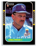 1987 Donruss #378 Greg Pryor Royals MLB Mint Baseball