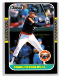 1987 Donruss #384 Craig Reynolds Astros MLB Mint Baseball