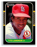 1987 Donruss #386 Tito Landrum Cardinals MLB Mint Baseball