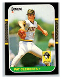 1987 Donruss #390 Pat Clements Pirates MLB Mint Baseball