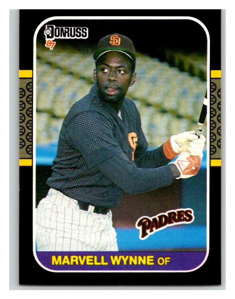 1987 Donruss #411 Marvell Wynne Padres MLB Mint Baseball