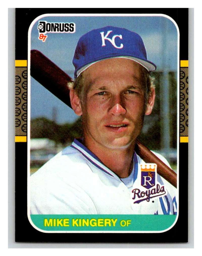 1987 Donruss #424 Mike Kingery RC Rookie Royals MLB Mint Baseball