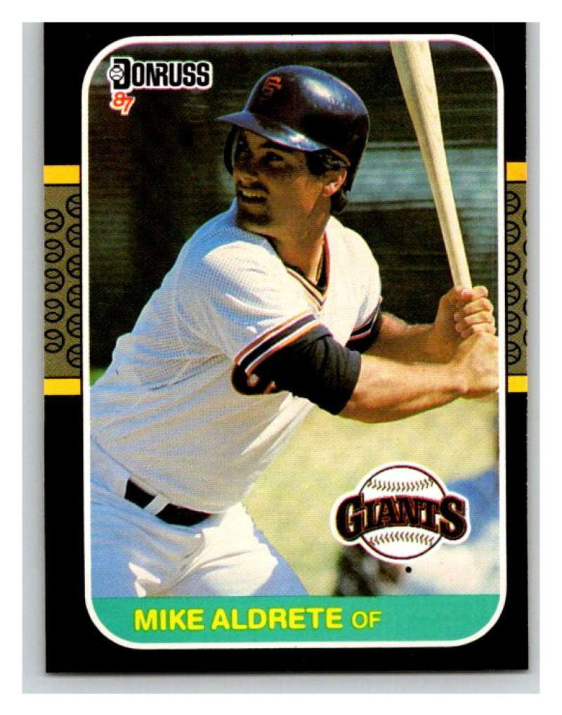 1987 Donruss #450 Mike Aldrete RC Rookie Giants MLB Mint Baseball