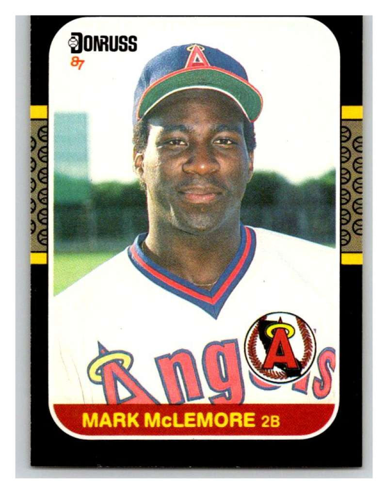 1987 Donruss #479 Mark McLemore Angels MLB Mint Baseball