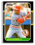 1987 Donruss #480 John Morris Cardinals MLB Mint Baseball