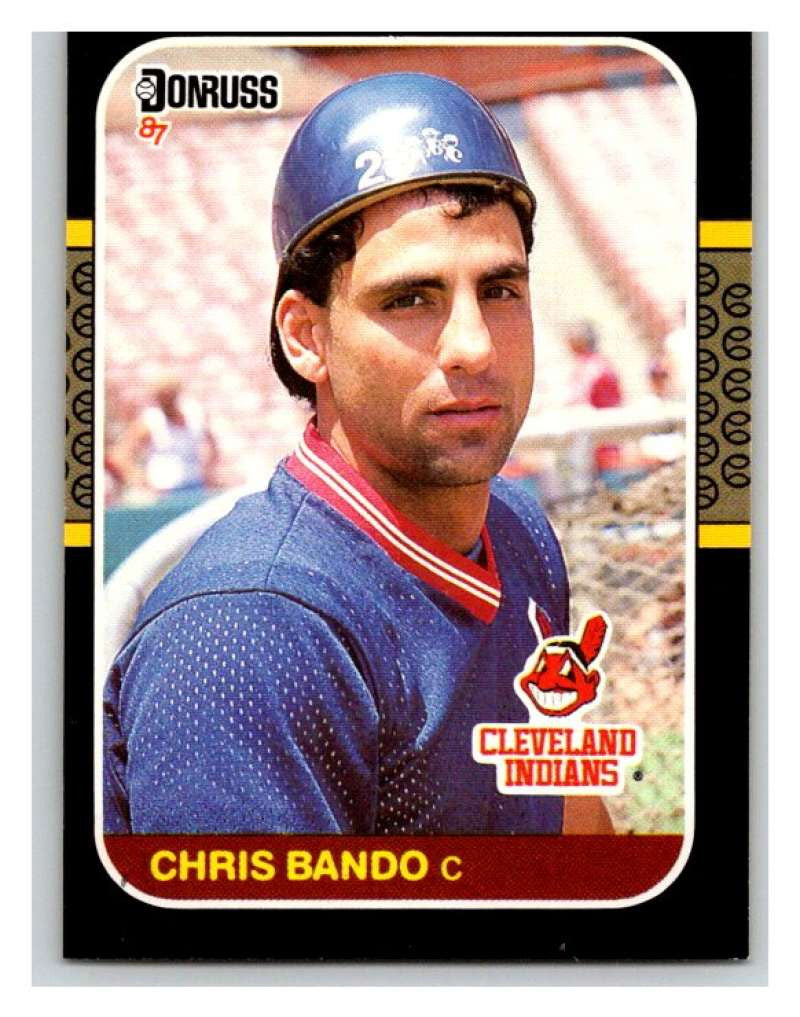 1987 Donruss #501 Chris Bando Indians MLB Mint Baseball