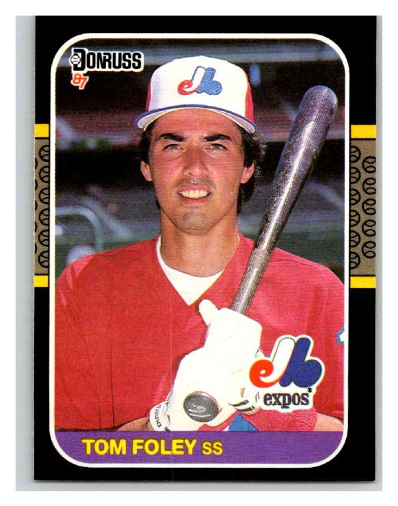 1987 Donruss #504 Tom Foley Expos MLB Mint Baseball