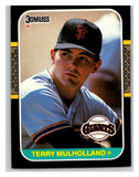 1987 Donruss #515 Terry Mulholland RC Rookie Giants MLB Mint Baseball