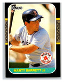 1987 Donruss #523 Marty Barrett Red Sox MLB Mint Baseball