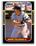 1987 Donruss #524 Wayne Tolleson Yankees MLB Mint Baseball