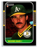1987 Donruss #528 Moose Haas Athletics MLB Mint Baseball