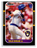 1987 Donruss #542 Dale Sveum Brewers MLB Mint Baseball