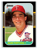 1987 Donruss #566 Mark Portugal RC Rookie Twins MLB Mint Baseball