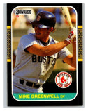 1987 Donruss #585 Mike Greenwell RC Rookie Red Sox MLB Mint Baseball