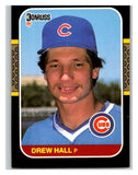 1987 Donruss #594 Drew Hall RC Rookie Cubs MLB Mint Baseball