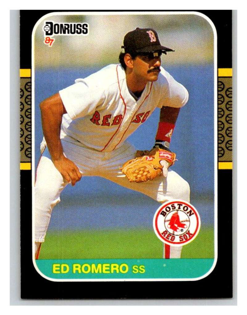 1987 Donruss #606 Ed Romero Red Sox MLB Mint Baseball