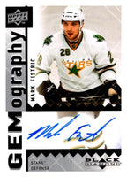 2009 Upper Deck Black Diamond Gemography #GMF Mark Fistric MINT Auto 02971