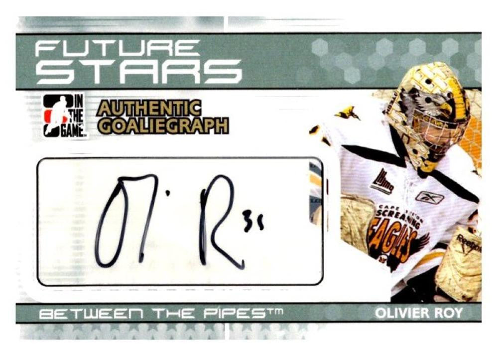 2010-11 ITG Between the Pipes Autographs #AOR Olivier Roy MINT Auto 02972