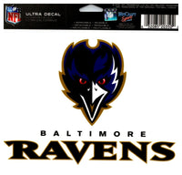 (HCW) Baltimore Ravens Multi-Use Coloured Decal Sticker 5