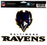 "(HCW) Baltimore Ravens Multi-Use Coloured Decal Sticker 5""x6"" NFL Football"