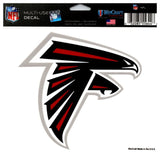 "(HCW) Atlanta Falcons Multi-Use Coloured Decal Sticker 5""x6"" NFL Football"