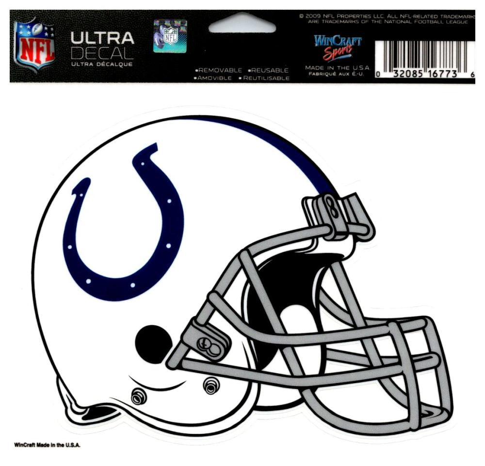 "(HCW) Indianapolis Colts Multi-Use Helmet Coloured Decal Sticker 5""x6"" NFL"