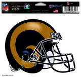 "(HCW) Los Angeles Rams Multi-Use Helmet Coloured Decal Sticker 5""x6"" NFL"