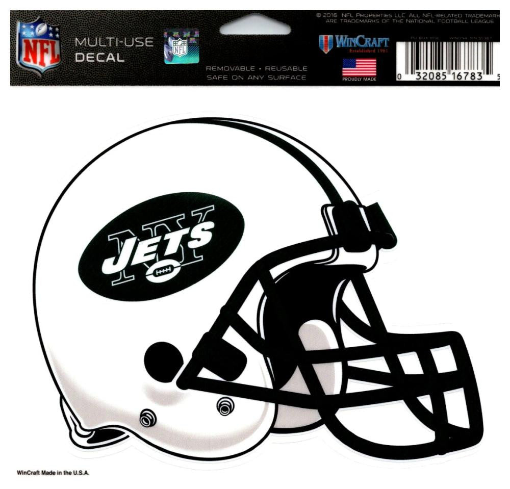 "(HCW) New York Jets Multi-Use Helmet Coloured Decal Sticker 5""x6"" NFL"