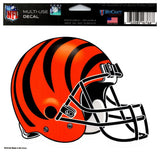 "(HCW) Cincinnati Bengals Multi-Use Helmet Coloured Decal Sticker 5""x6"" NFL"
