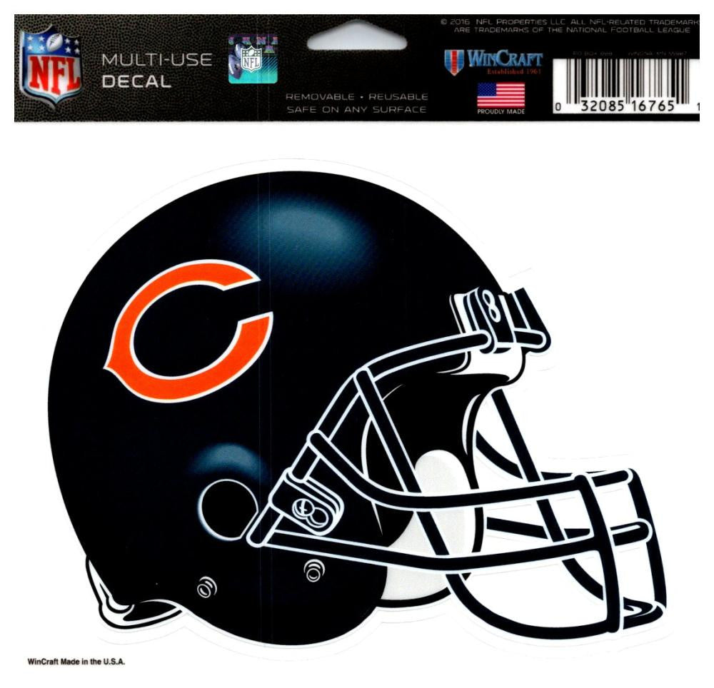 "(HCW) Chicago Bears Multi-Use Helmet Coloured Decal Sticker 5""x6"" NFL"