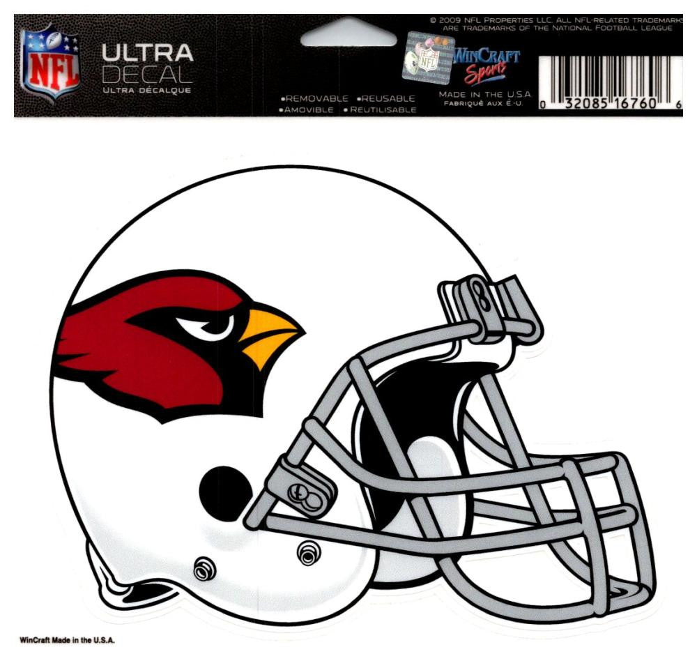 "(HCW) Arizona Cardinals Multi-Use Helmet Coloured Decal Sticker 5""x6"" NFL"