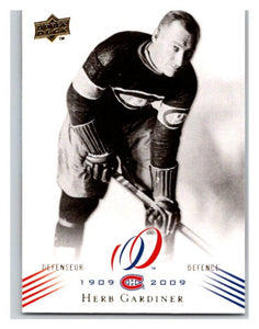 2008-09 Upper Deck Montreal Canadiens Centennial #11 Herb Gardiner NM-MT Hockey NHL