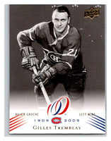 2008-09 Upper Deck Montreal Canadiens Centennial #142 Gilles Tremblay NM-MT Hockey NHL