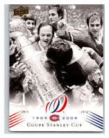 2008-09 Upper Deck Montreal Canadiens Centennial #195 Coupe Stanley Cup NM-MT Hockey