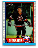 (HCW) 1989-90 O-Pee-Chee #6 Derek King RC Rookie NY Islanders NHL Hockey