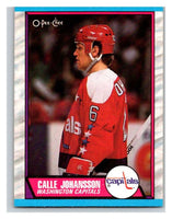 (HCW) 1989-90 O-Pee-Chee #16 Calle Johansson RC Rookie Capitals NHL Hockey