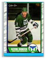 (HCW) 1989-90 O-Pee-Chee #20 Kevin Dineen Whalers NHL Hockey