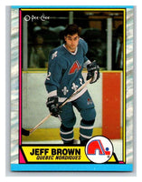 (HCW) 1989-90 O-Pee-Chee #28 Jeff Brown Nordiques NHL Hockey