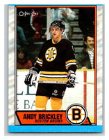 (HCW) 1989-90 O-Pee-Chee #29 Andy Brickley RC Rookie Bruins NHL Hockey