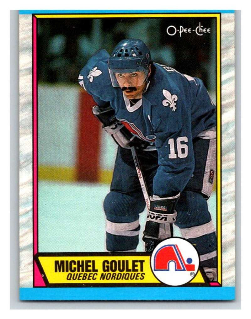 (HCW) 1989-90 O-Pee-Chee #57 Michel Goulet Nordiques NHL Hockey